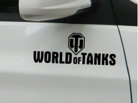 Наклейка World of Tanks чёрная
